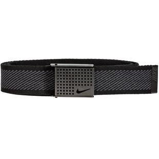 Men's Diagonal Web Belt with Cutout Buckle