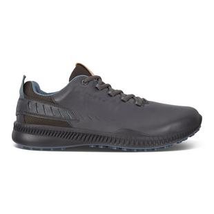 Men's Golf S-Hybrid Spikeless Golf Shoe- Dark Grey/Blue