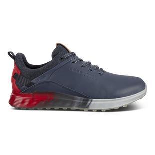 Men's Golf S-Three Spikeless Golf Shoe- Navy/Red