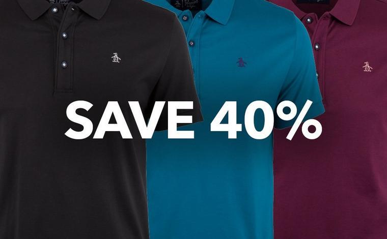 Save 40% on Penguin Earl Championship Polos