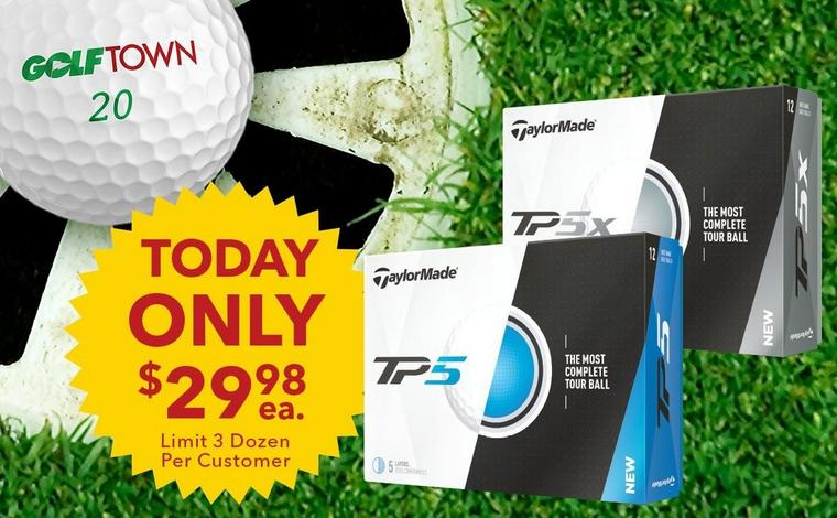Only $29.98 ea. <br />Prior Gen TP5 and TP5X Golf Balls!