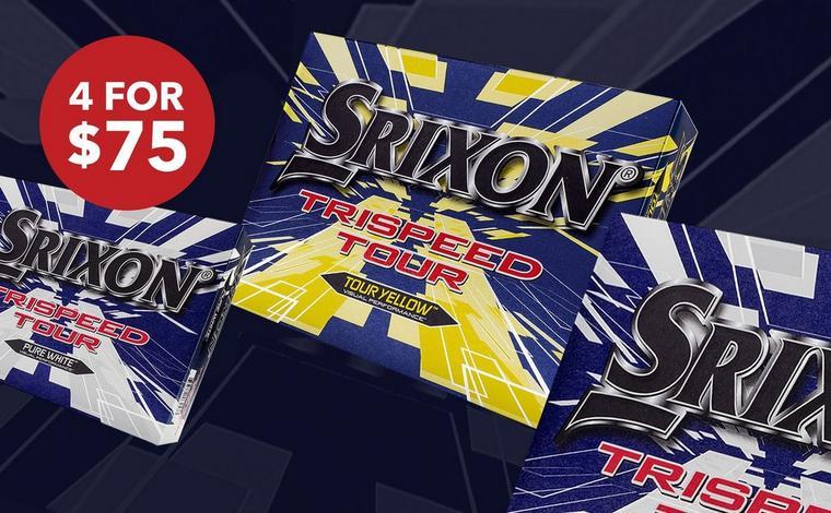 Buy 2 For $50, 3 For $60 or 4 for $75 Srixon TriSpeed Tour, 12pk