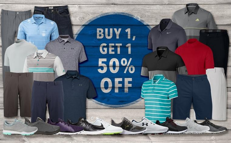 Buy 1 Get 1 50% off on Clothing and Shoes