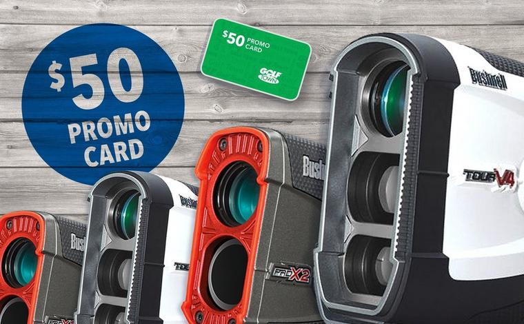 $50 Promo Card with Purchase of Bushnell Rangefinders