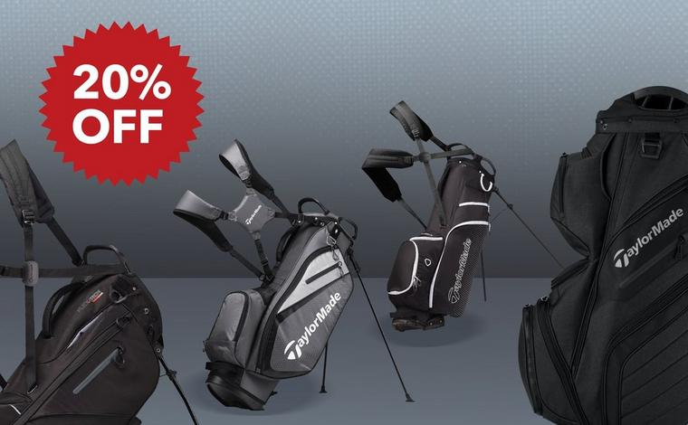 20% off TaylorMade Stand, Staff & Cart Bags