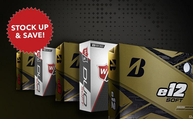 Stock Up and Save on Wilson DUO Soft and Bridgestone e12 Golf Balls