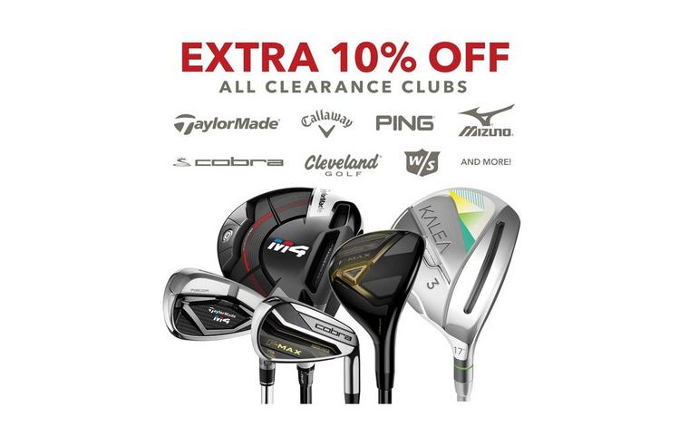 Save extra 10% off clearance clubs