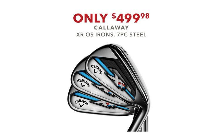 Callaway XR OS Iron Set – $499.98