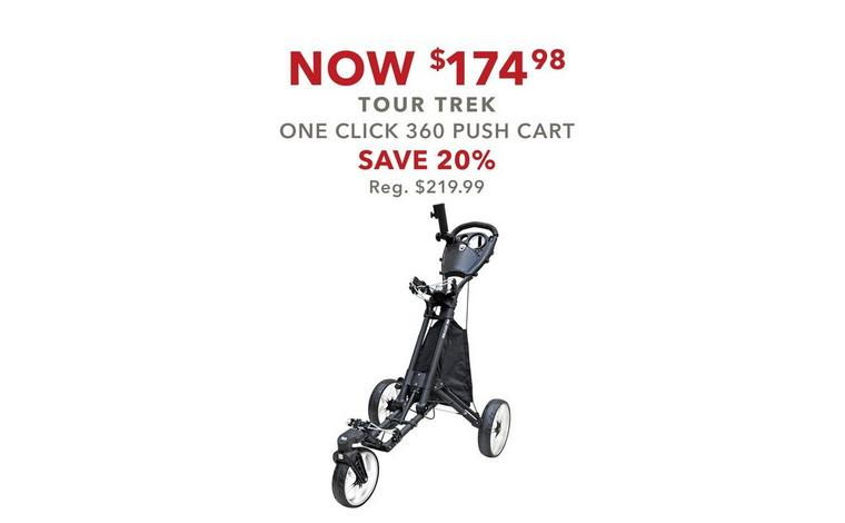 One Click 360 Push Cart –Now $174.98