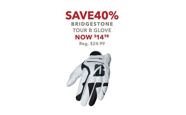 Save 40% on Bridgestone Tour B Fit Gloves – Now $14.98