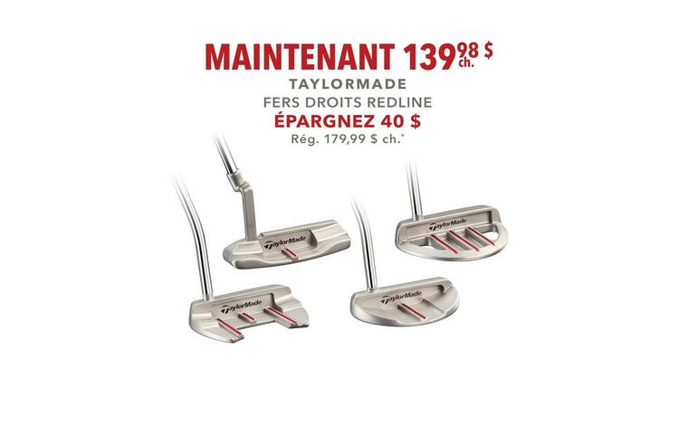 Fers droits TaylorMade Redline - Seulement 139,98 $