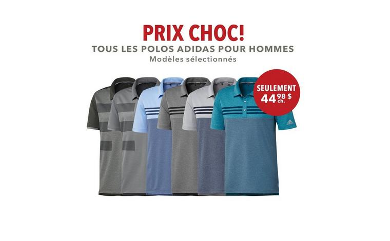 Polo adidas pour hommes - Seulement 44,98 $ ch.