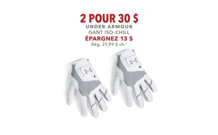 Gant Under Armour Iso-Chill - 2 pour 30 $