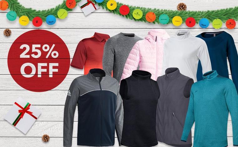 25% off Men's, Women's & Junior Clothing