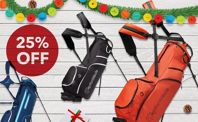 Save 25% on golf bags