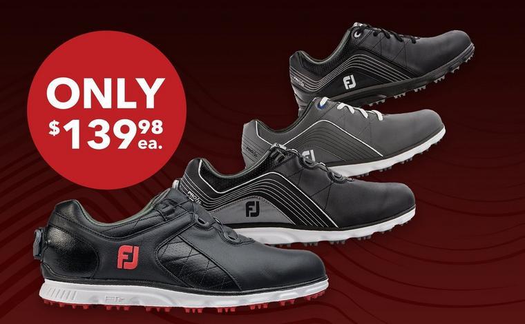 FJ Men's Pro SL & Pro SL BOA Shoes - Only $139.98ea.