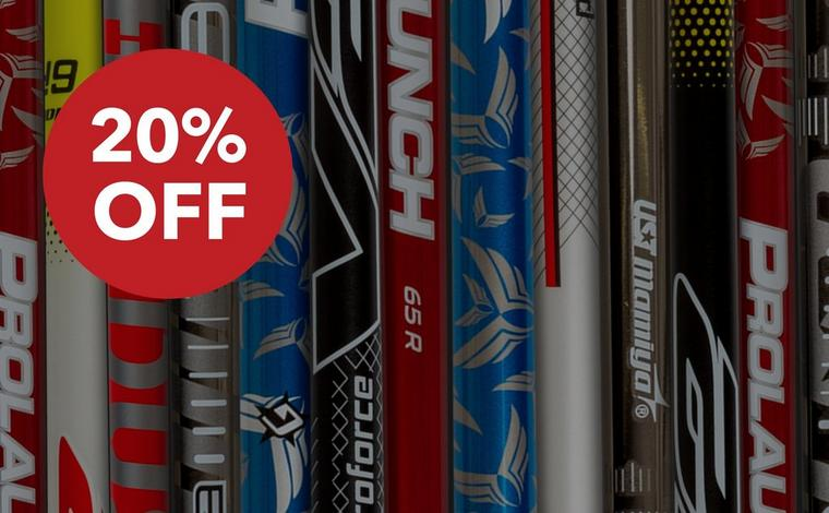 20% Off IN-STOCK SHAFTS