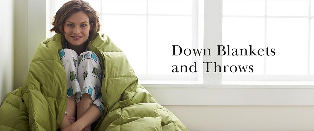 Down Blankets and Throws