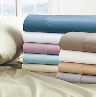 Shop 450-Thread Count Wrinkle-Free Sateen Sheets