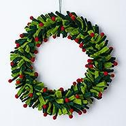 Featured Product: Holiday Felt Wreaths - Green