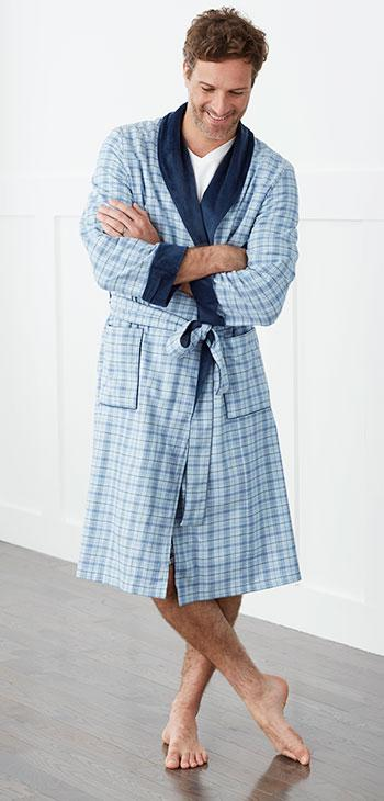 Men & Women's Bristol Robe - Blue