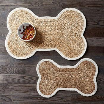 Dog Bone Feeding Mat – Natural