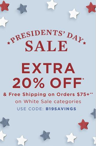 Extra 20% Off White Sale