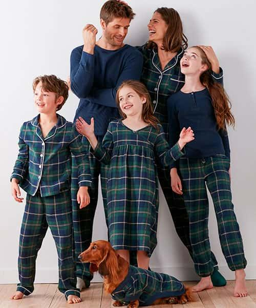 Family Flannel Pajamas - Green Plaid