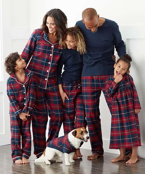 Family Flannel Pajamas - Red Plaid