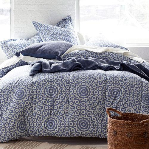 Cstudio Home Woodcut Medallion Percale Comforter Set Collection
