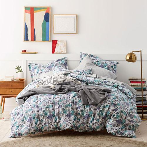 Cstudio Home Spring Floral Percale Comforter Set Collection - Meadow