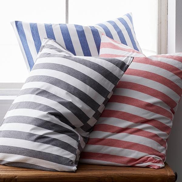 Awning Stripe Space-Dyed Cotton Jersey Bedding
