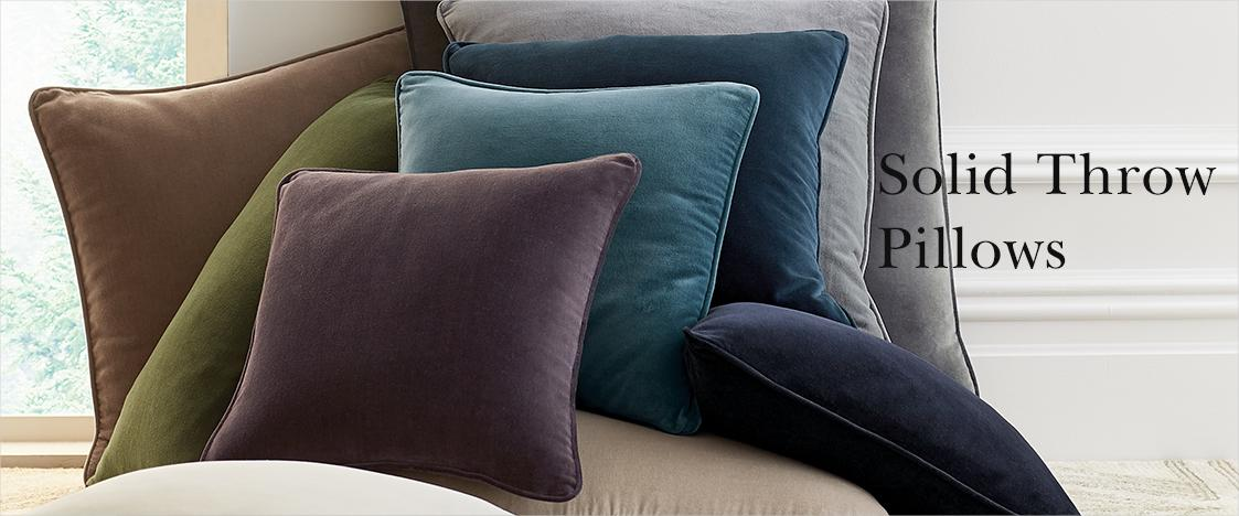 Solid Throw Pillow Covers