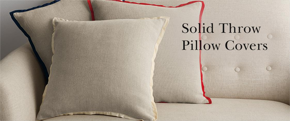 Throw Pillow Covers.Solid Throw Pillow Covers The Company Store