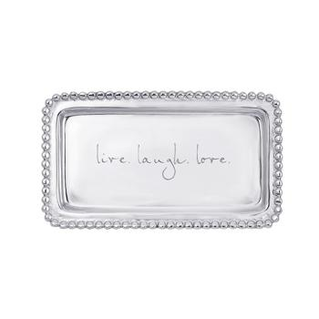 Mariposa Live Laugh Love Tray