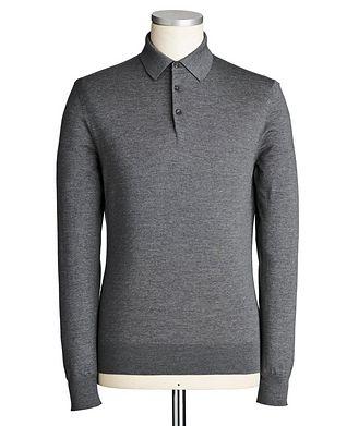 Ermenegildo Zegna Long-Sleeve Wool Polo