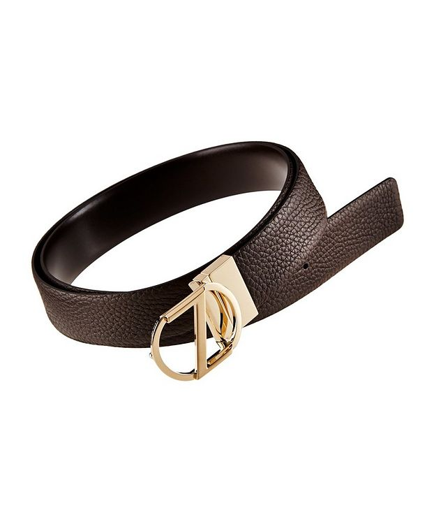 Logo Pebbled Leather Belt picture 1