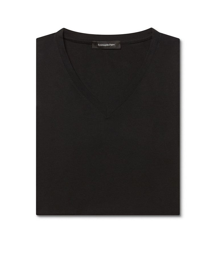 Stretch-Modal V-Neck T-Shirt image 3
