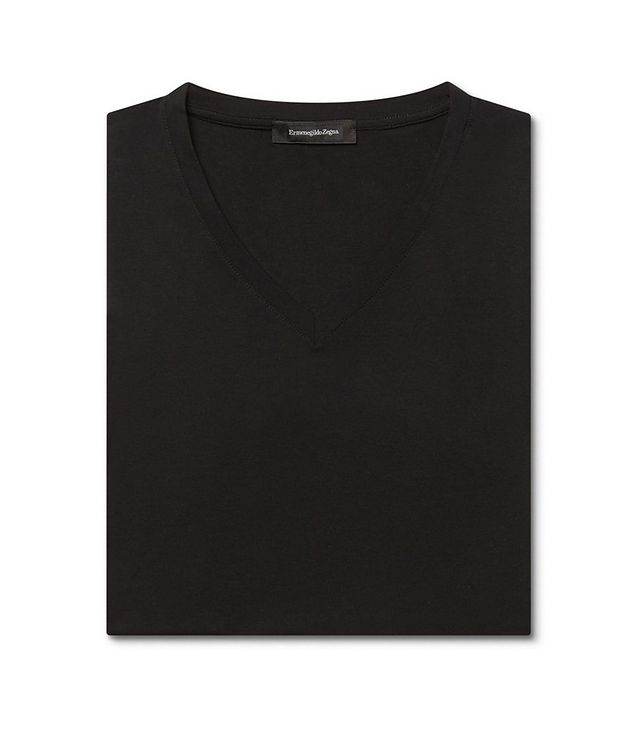 Stretch-Modal V-Neck T-Shirt picture 4
