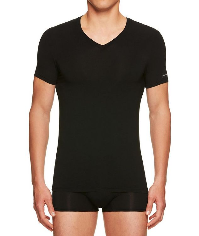 Stretch-Modal V-Neck T-Shirt picture 1