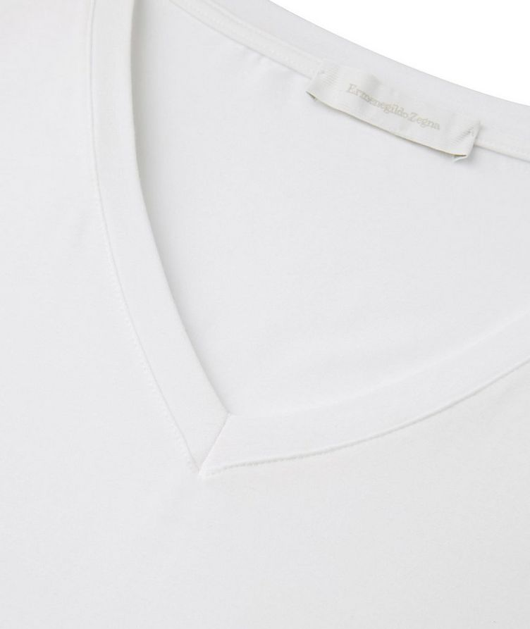 Stretch-Modal V-Neck T-Shirt image 1