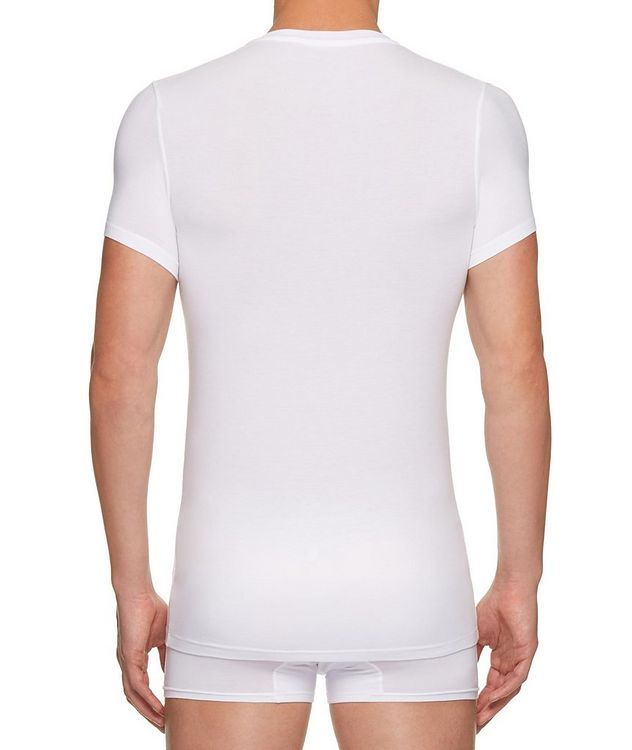 Stretch-Modal V-Neck T-Shirt picture 3