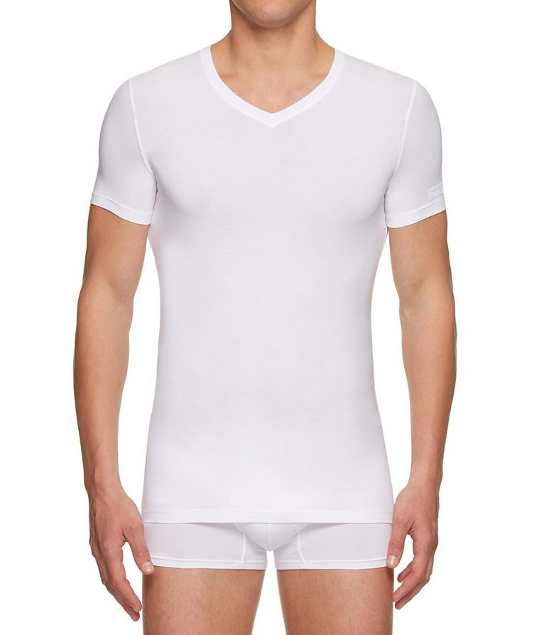 Stretch-Modal V-Neck T-Shirt image 0