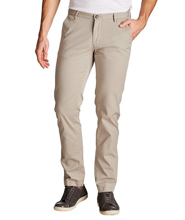 Rice Slim Fit Stretch Cotton Chinos picture 1