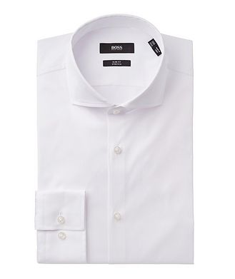 BOSS Slim Fit Stretch-cotton Dress Shirt