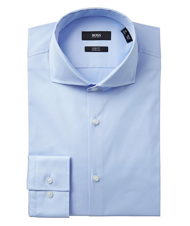 Slim Fit Stretch-cotton Dress Shirt image 0