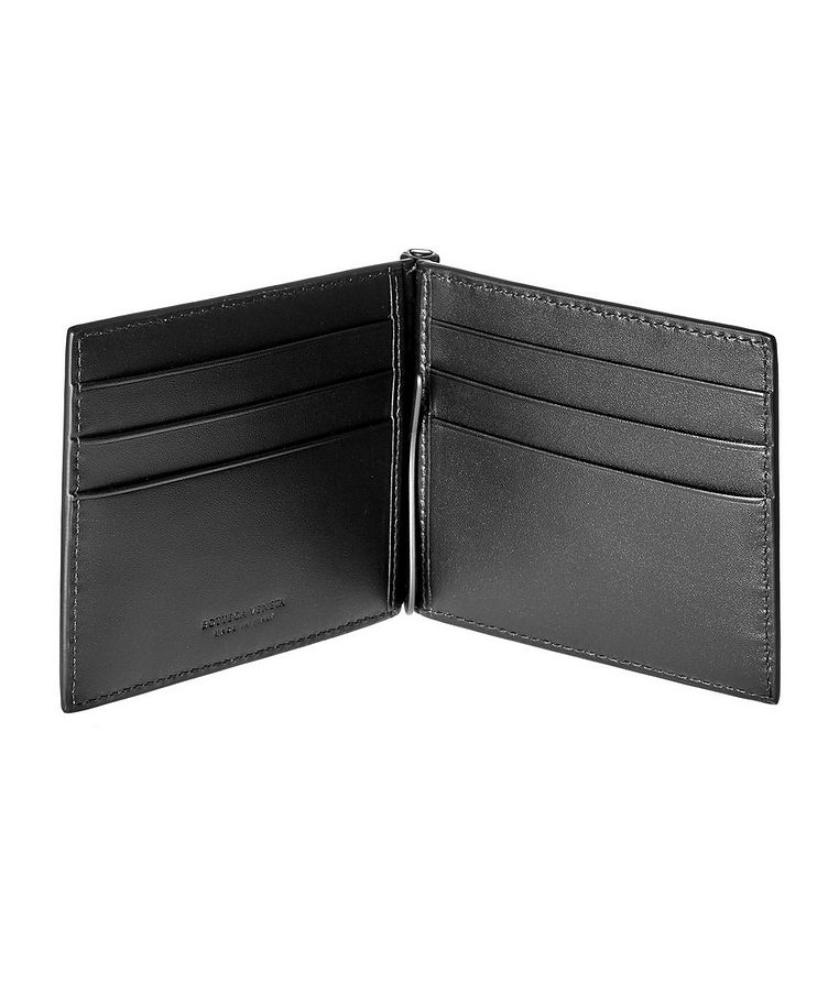 Woven Leather Bifold Wallet image 1