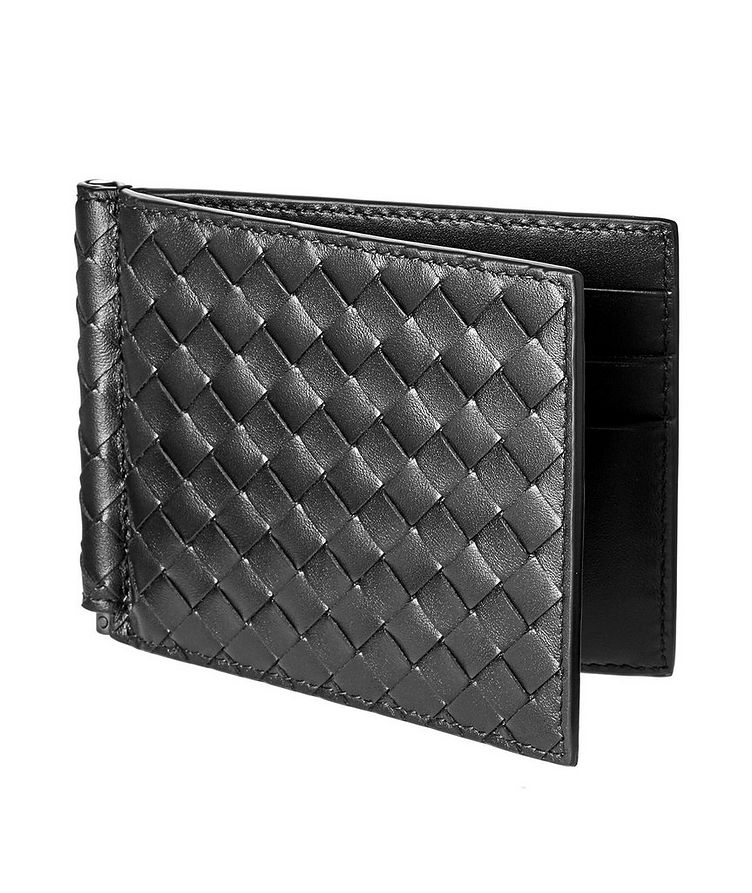 Woven Leather Bifold Wallet image 0