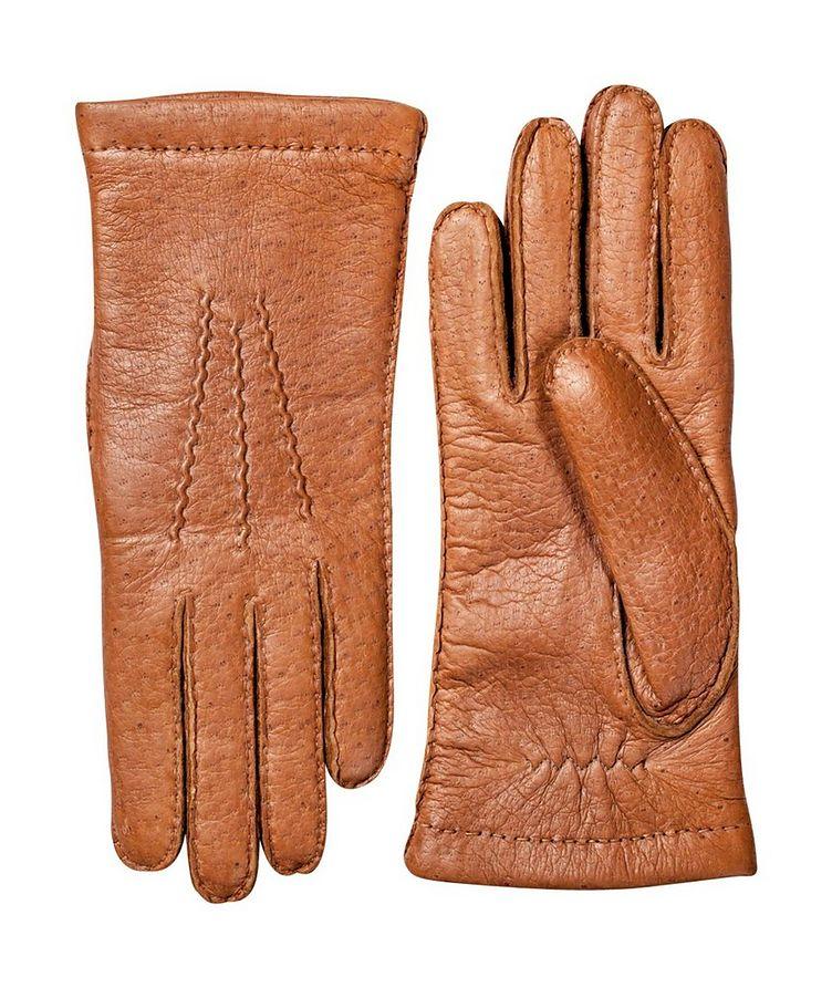 Gants doublés en cuir de pécari image 0