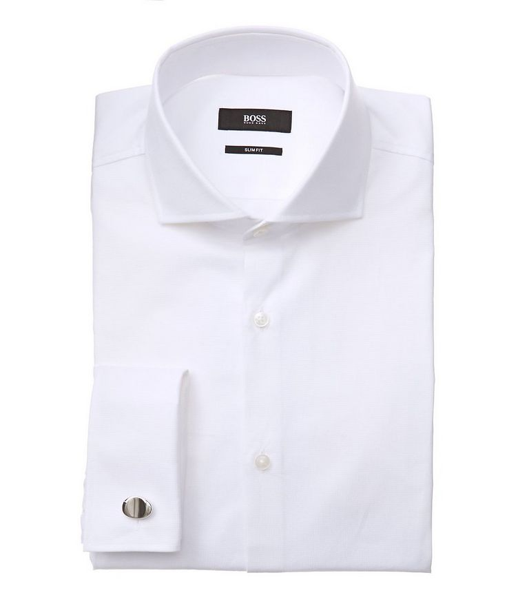 Slim Fit Tonal Dress Shirt image 0